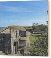 Historical Fort Wool Virginia Landmark Wood Print