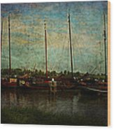 Historical Harbor Woudrichem The Netherlands Wood Print