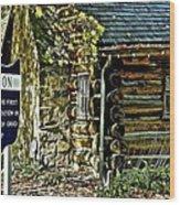 Historical Landmark Wood Print
