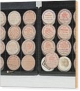Historical Ophthalmology Drugs Wood Print