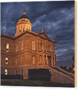 Historical Placer County Courthouse Wood Print