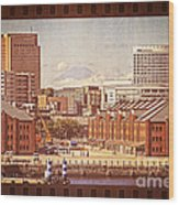 Historical Red Brick Warehouses Wood Print