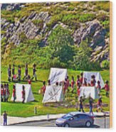 Historical Reenactment Near Visitor's Center In Signal Hill National Historic Site In St. John's-nl Wood Print