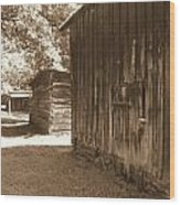 Historical Tobacco Barns Nc Usa Wood Print by Kim Galluzzo Wozniak