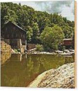 History Along Slippery Rock Creek Wood Print
