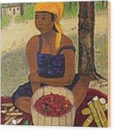 History Behind Caribbean Food Produces Wood Print