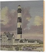 History Of Morris Lighthouse Wood Print