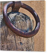 Hitching Post #1 Wood Print