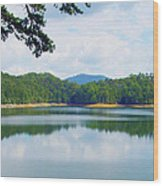 Hiwassee Lake Wood Print by Robert J Andler