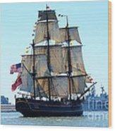 Hms Bounty Ahoy Wood Print
