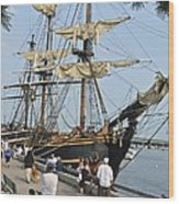 Hms Bounty Newburyport Wood Print