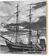 Hms Bounty Singer Island Wood Print by Debra and Dave Vanderlaan