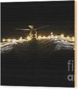 Hms Monmouth's Merlin Helicopter  Wood Print