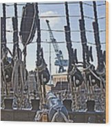 Hms Victory Cannon Wood Print