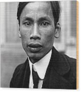 Ho Chi Minh In 1921 Wood Print