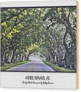Hobe Sound Fl-bridge Street Banyans Wood Print