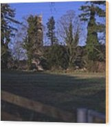Hockering Church Wood Print by Dave Woodbridge