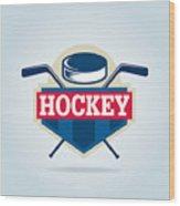 Hockey Logo,sport Wood Print