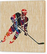 Hockey Player Wood Print by Marvin Blaine