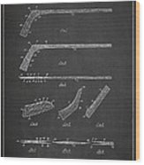 Hockey Stick Patent Drawing From 1934 Wood Print