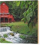 Hodgson Water Mill Wood Print
