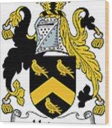 Hodson Coat Of Arms Irish Wood Print