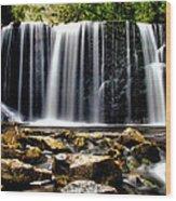 Hogg Falls Wood Print