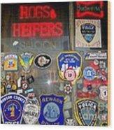 Hogs And Heifers Window Wood Print