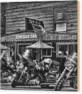 Hogs At The Tow Bar Inn - Old Forge New York Wood Print