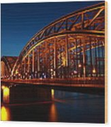 Hohenzollern Bridge Wood Print