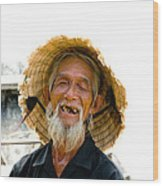 Hoi An Fisherman Wood Print by David Smith