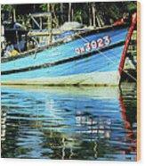 Hoi An Fishing Boat 01 Wood Print