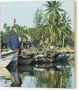 Hoi An Fishing Boats 01 Wood Print