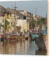 Hoi An Fishing Boats 02 Wood Print
