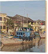 Hoi An Fishing Boats 03 Wood Print
