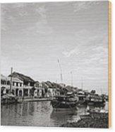 Hoi An Riverfront Wood Print