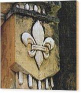 Hoi An's Fleur De Lys Wood Print