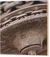Hoist Wheel Wood Print
