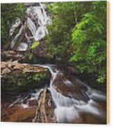 Holcomb Falls Wood Print