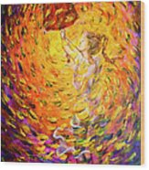 Hold Back The Rain II Wood Print