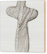 Holding Cross Wood Print
