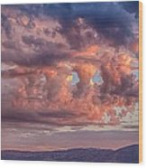 Holes In The Sunrise Clouds Wood Print