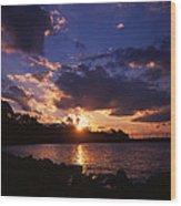 Holga Sunset Wood Print
