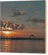 Holgate Bay Sunset Wood Print