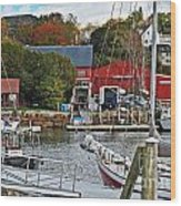 Holiday At Rockport Wood Print