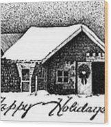 Holiday Barn Wood Print