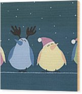 Holiday Birds Wood Print