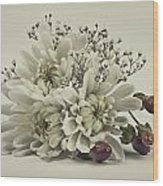 Holiday Boquet Wood Print