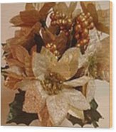 Holiday Flowers Wood Print