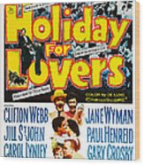 Holiday For Lovers, Us Poster Art Wood Print